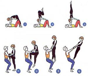 Akrobatik-Figuren